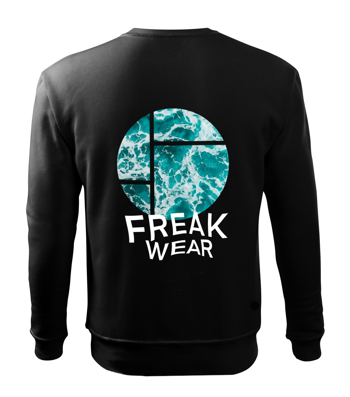 Mikina Freak Wear bez kapuce Ocean