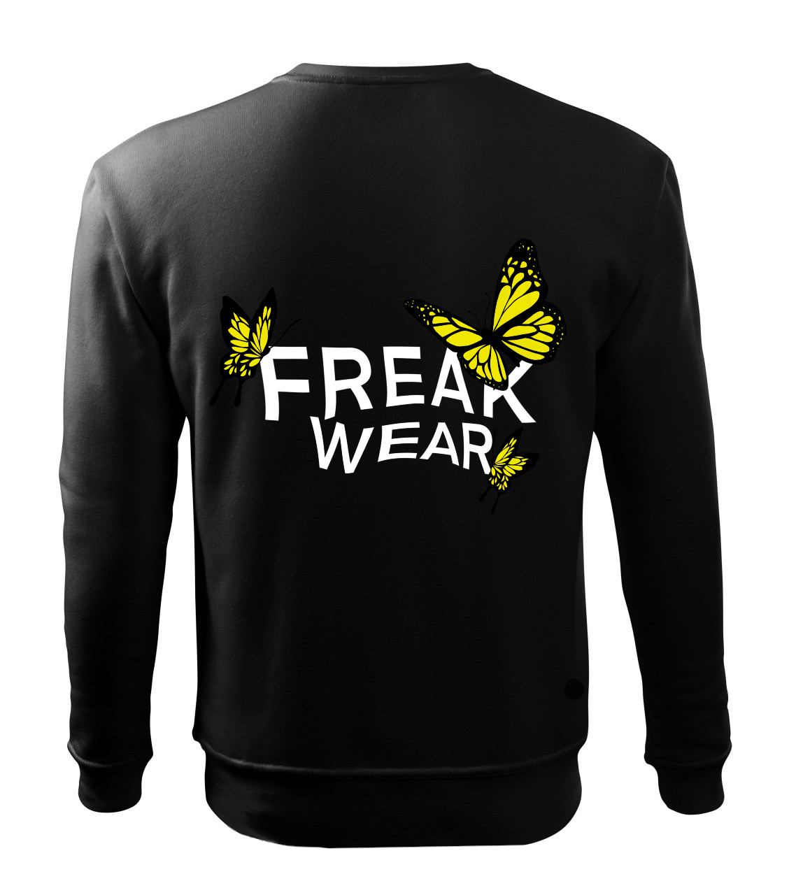Mikina Freak Wear bez kapuce BL yellow