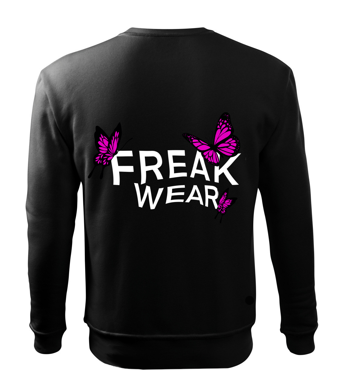 Mikina Freak Wear bez kapuce BL dark pink